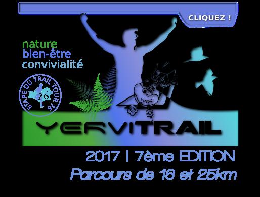 yervitrail2017, 7ème édition, Parcours de 16 et 25 kilomètres, 28 mai 2017